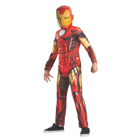Deluxe Iron Man Padded Jumpsuit And Mask Child