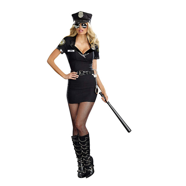 Dirty Cop Officer Anita Bribe Felame Costume