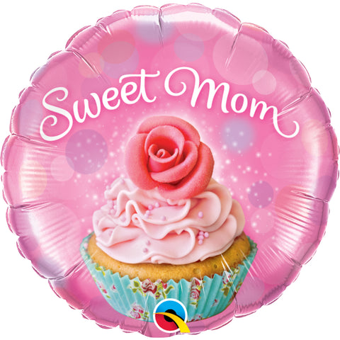 Sweet Mom-Cupcake Foil Balloon