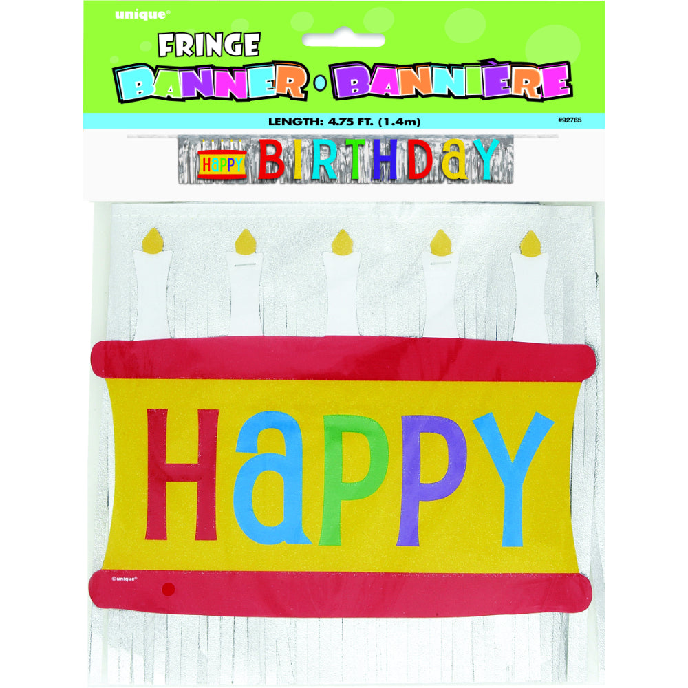 Happy Birthday Foil Fringe Banner
