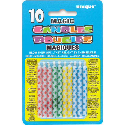 Birthday Multi Diamond Dot Magic Candle