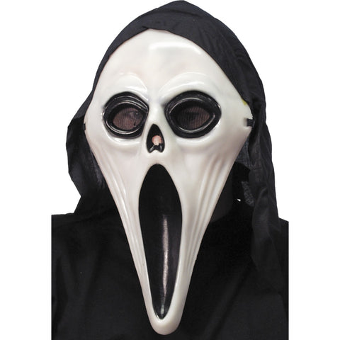 Glow In The Dark Screamer Mask With Hood