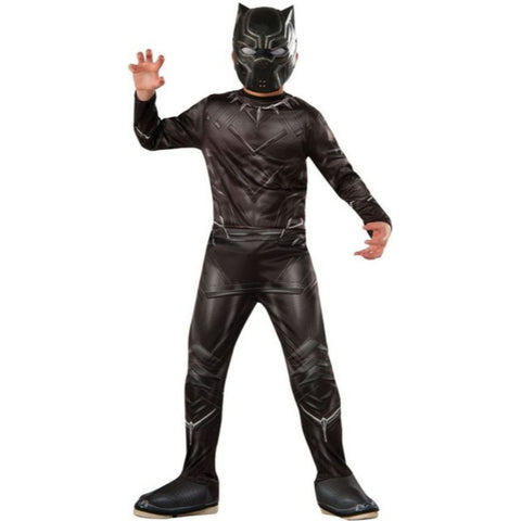 Black Panther Super Muscle Top Metallic Boy Costume