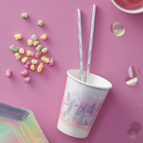 Iridescent Party Paper Cups