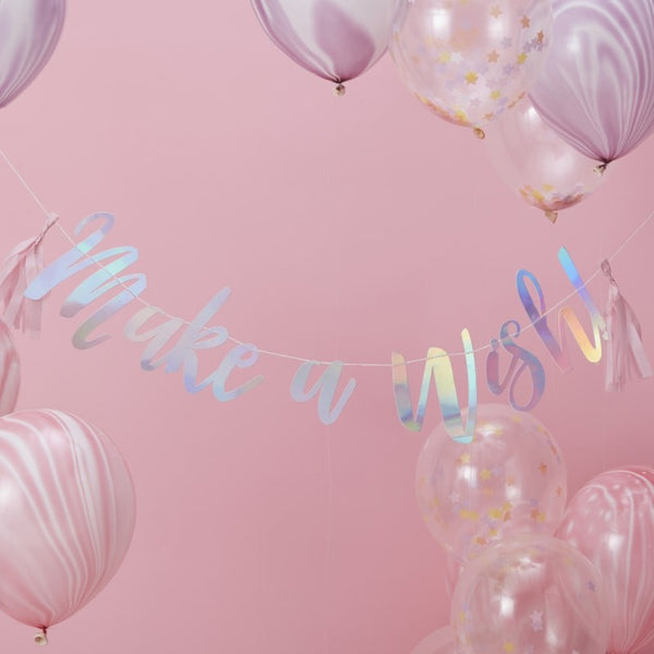 Make A Wish Backdrop Bunting Iridescent