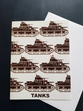 "Load image into Gallery viewer, ""Tanks"" Greeting Cards"