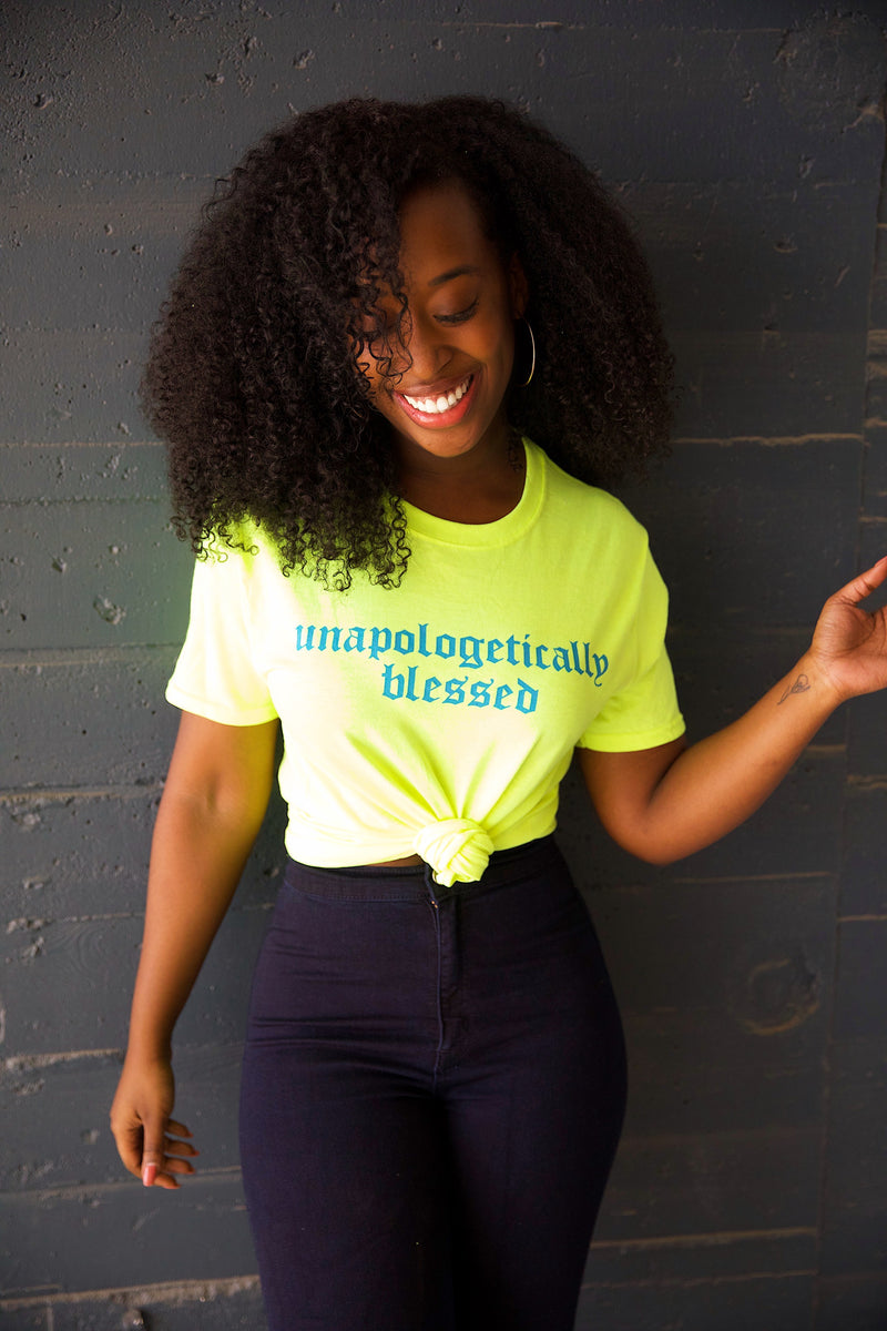 UNAPOLOGETICALLY BLESSED (HIGHLIGHTER TEE)