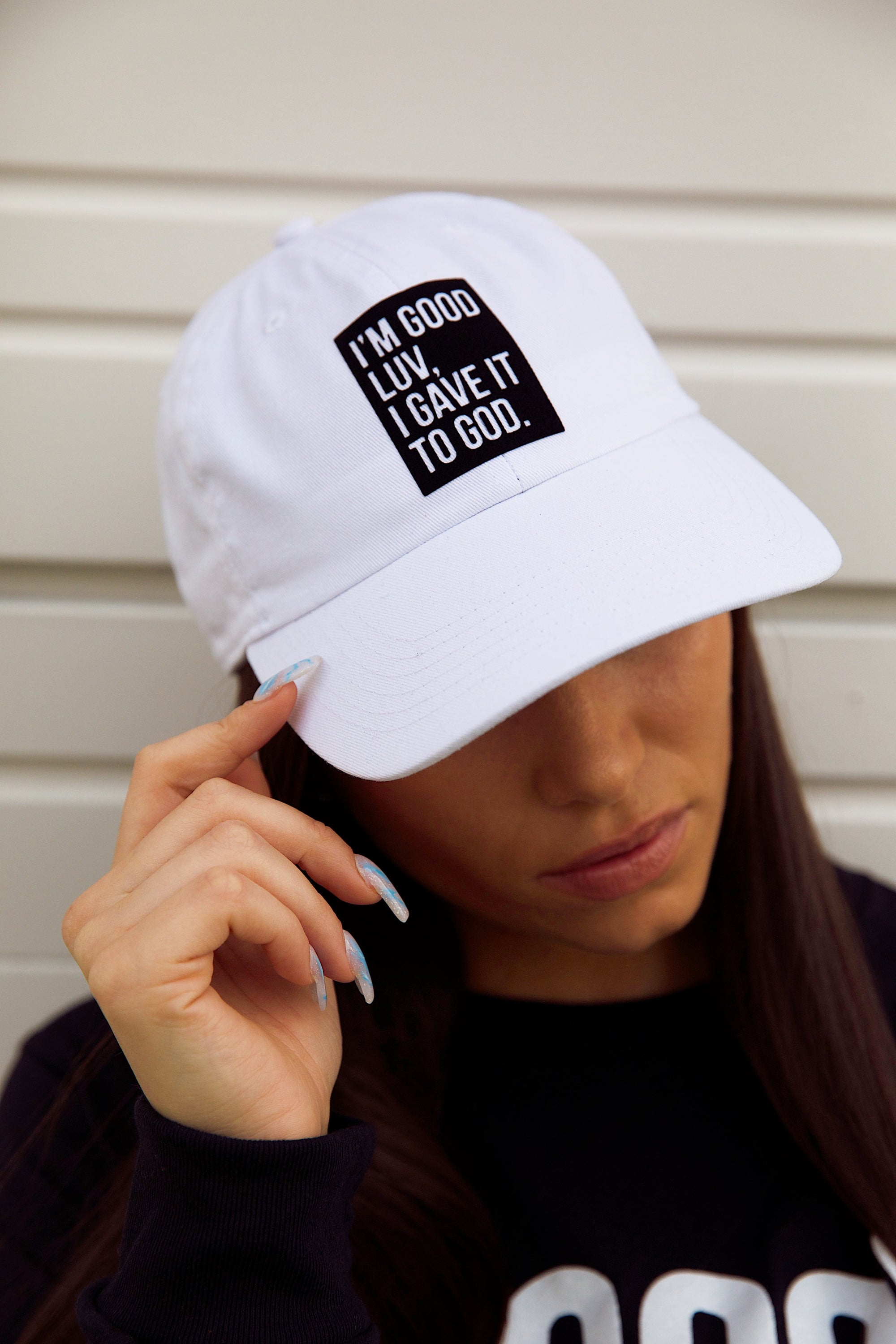 """I'M GOOD LUV"" WHITE HAT (BLACK BOX)"