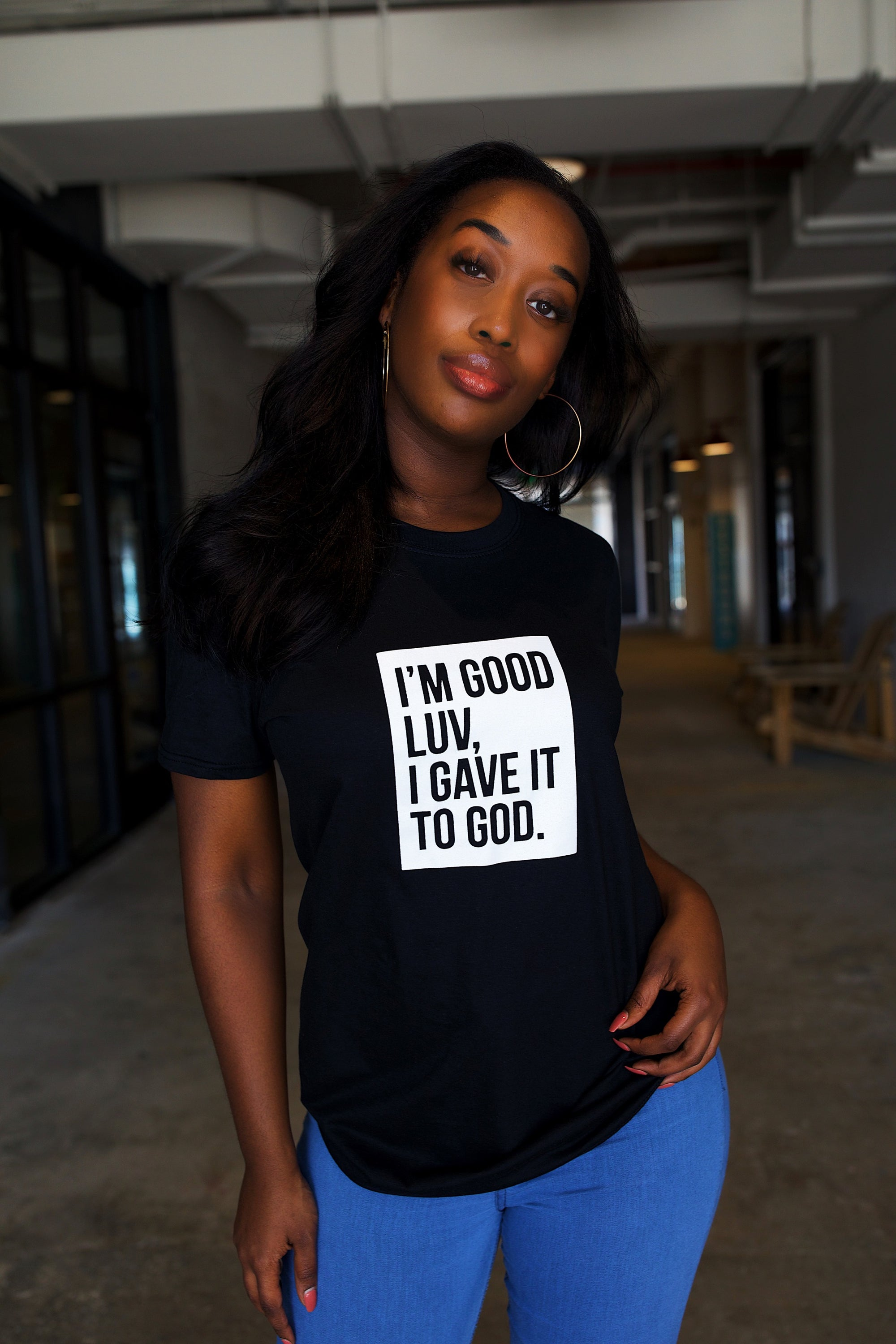 I'M GOOD LUV (BLACK/WHITE BOX TEE)