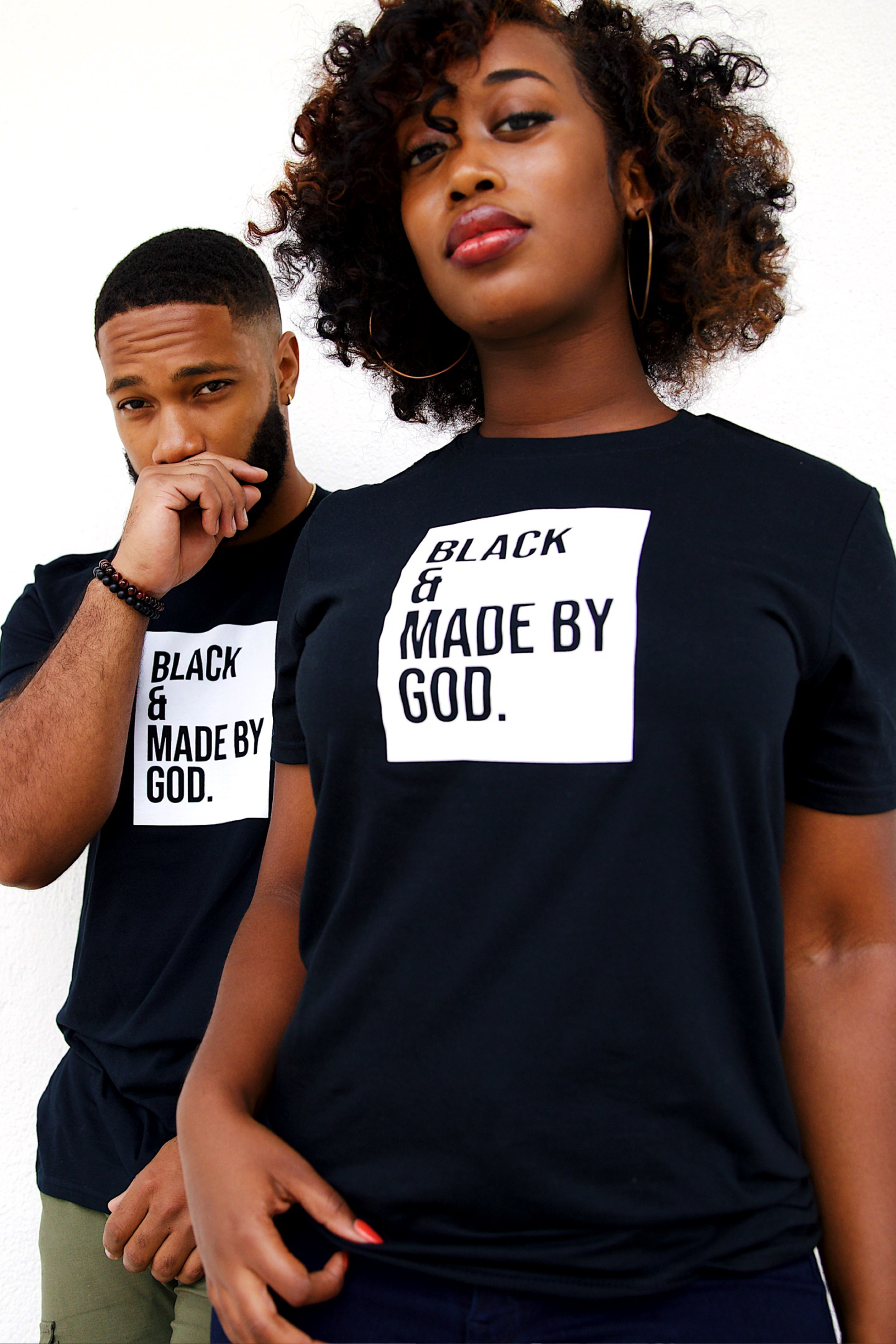 BLACK & MADE BY GOD TEE