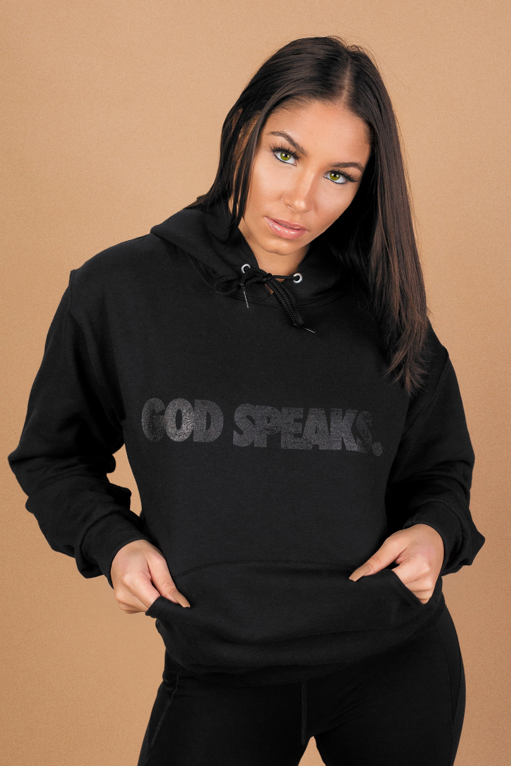 GOD SPEAKS HOODIE (TRIPLE BLACK)