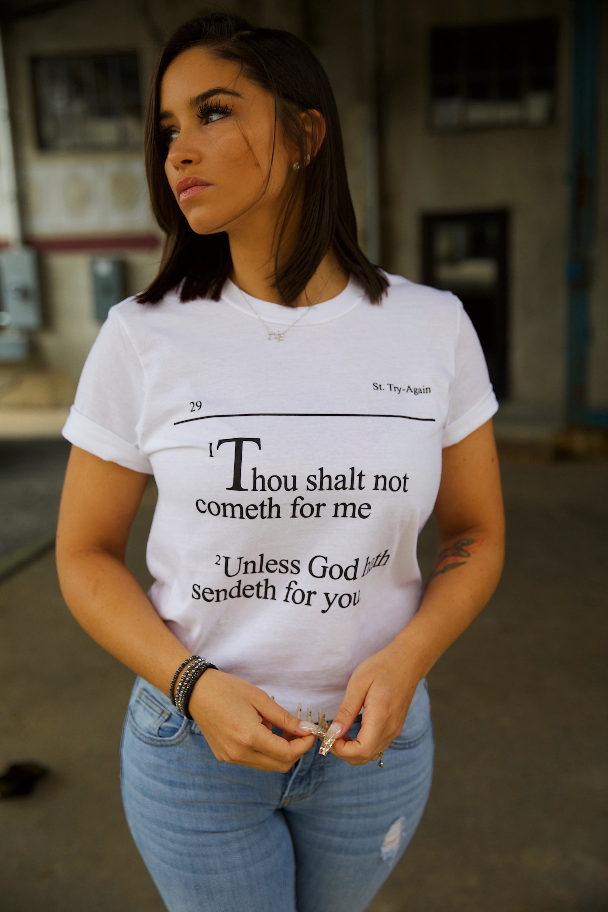 THOU SHALT NOT COMMETH FOR ME TEE