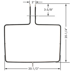 W10779716 Whirlpool Bake Element