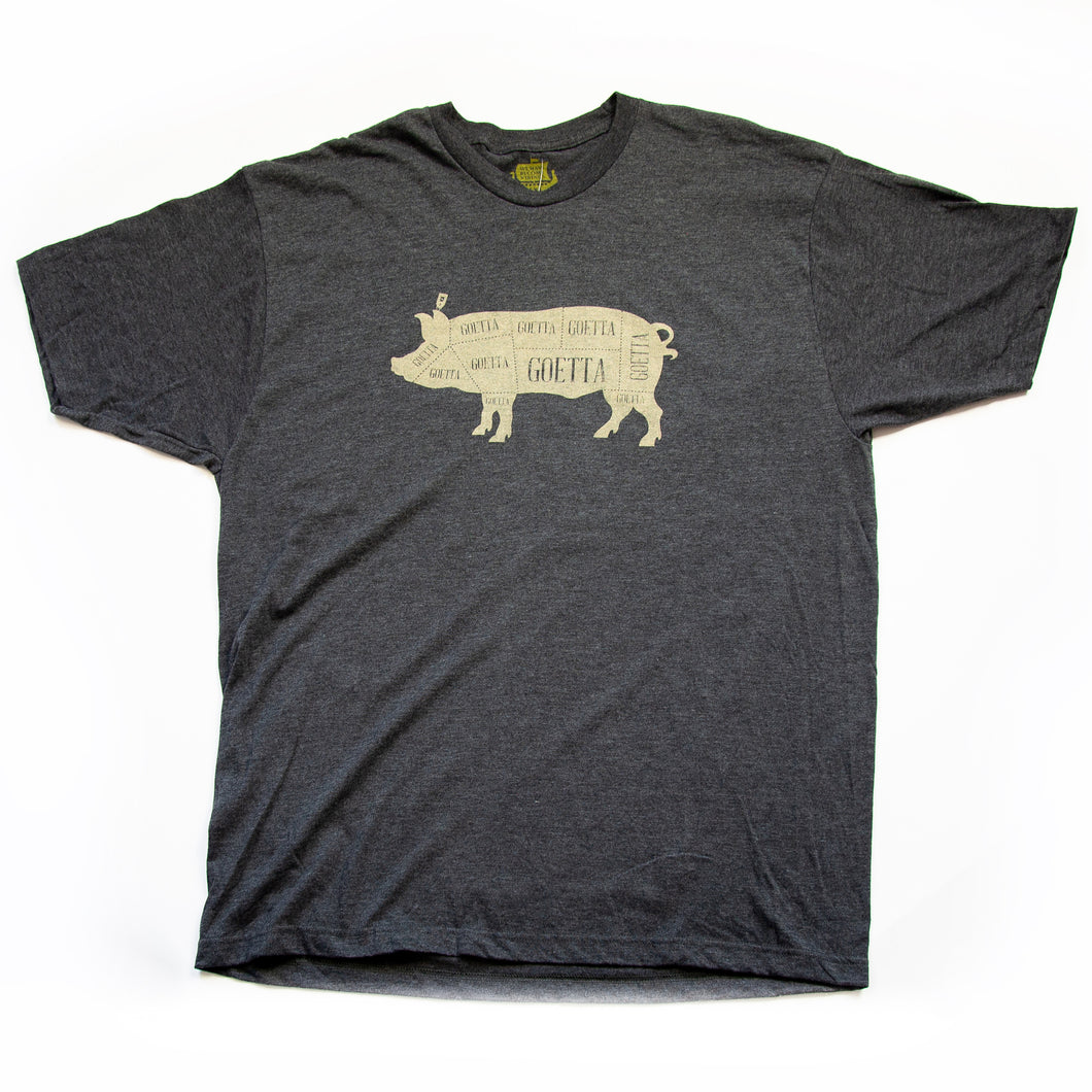 Goetta Cream on Charcoal T-Shirt