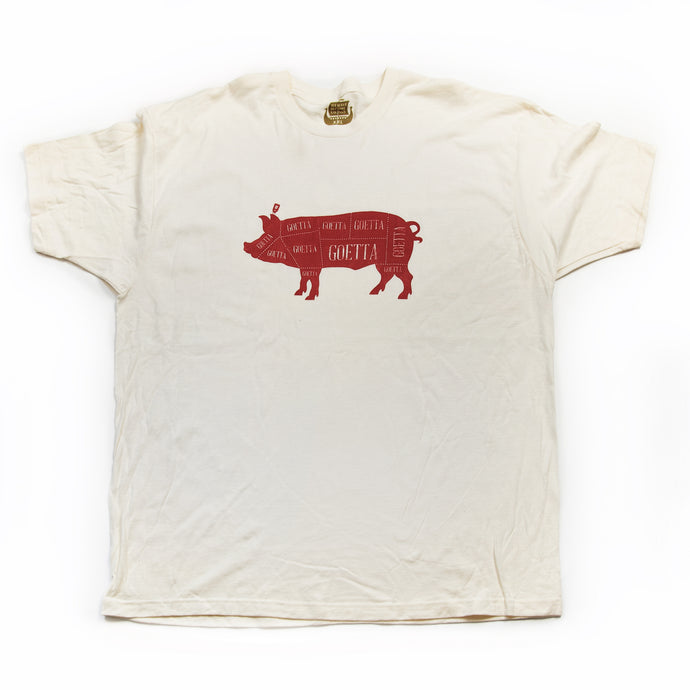 Goetta Crimson on Cream T-Shirt