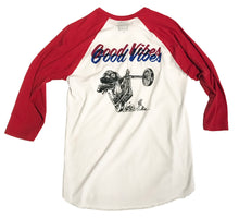 Load image into Gallery viewer, Good Vibes Raglan Tee