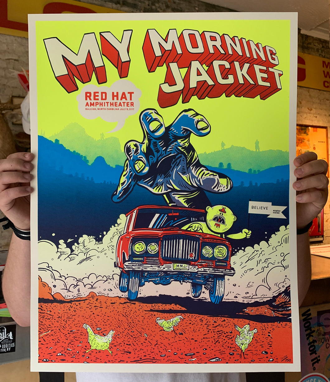 My Morning Jacket Live @ Red Hat Amphitheater Print