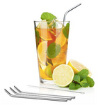Angled Stainless Steel Classic Straws
