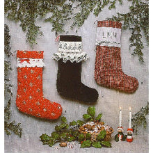 Load image into Gallery viewer, Smocked Christmas Stocking by Sandy Hunter