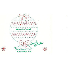 Smocked Christmas Ball by Sandy Hunter