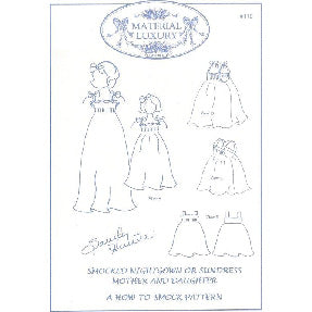 "Smocked ""Mother-Daughter"" Nightgown or Sundress"