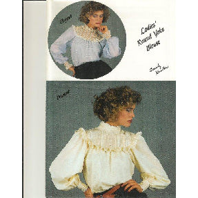 Lady's Round Yoke Blouse by Sandy Hunter