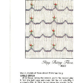Itsy Bitsy Flowers Smocking Design Plate by Sandy Hunter