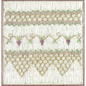 The Grapevine Smocking Design Plate by Sandy Hunter