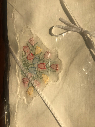Cocktail Napkins - Sweet Tulip Embroidered Napkins