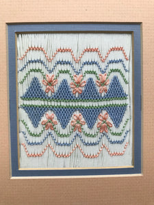 """Kelly's Flowers"" Smocking Design Plate by Sandy Hunter"