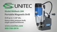 Load image into Gallery viewer, C S Unitec MABASIC200 Magnetic Drill