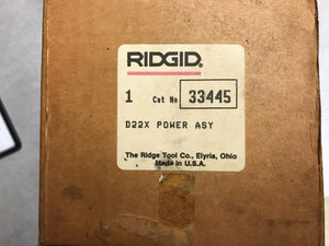 Ridgid D22X 33445 Power Assembly for 206 Pipe Cutter