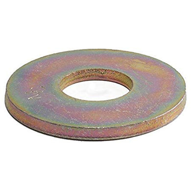 1/4 Grade 8 USS Flat Washer Yellow Zinc Plated (100)