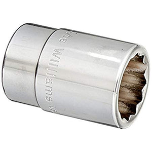 Williams H-1234  3/4 Drive Shallow Socket, 12 Point, 1-1/16-Inch