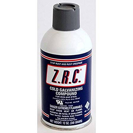 ZRC Cold Galvanizing Compound 12 Oz Aerosol Can... 95% Zinc (Z.R.C.) 10000