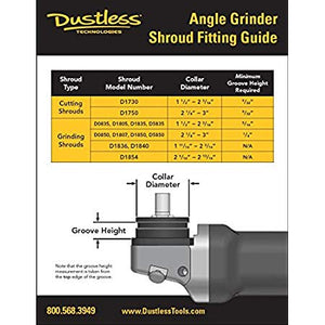 DustBuddie Universal Dust Shroud for Grinders (Cup Wheel), 5""