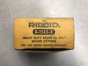 "Ridgid 42315 3 1/2"" Fitting Brush D-1543X for 124 Copper Cleaning Machine"