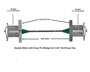 "Snap Ties with Cone - Short End (4 3/4"") - 3,000 lb rating - box of 100"
