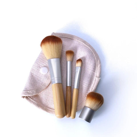 4 pcs Bamboo Brush Set