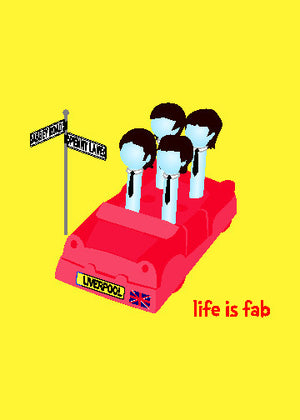 Beatles Greeting Card - Life is Fab