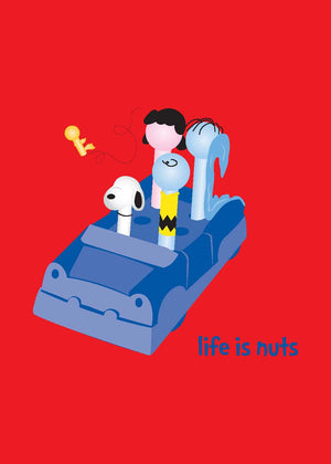 Peanuts Gang Greeting Card - Life is Nuts