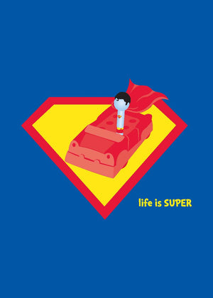 Superman Greeting Card - Life is Super