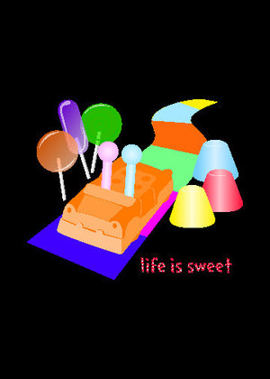 Candyland Greeting Card - Life is Sweet