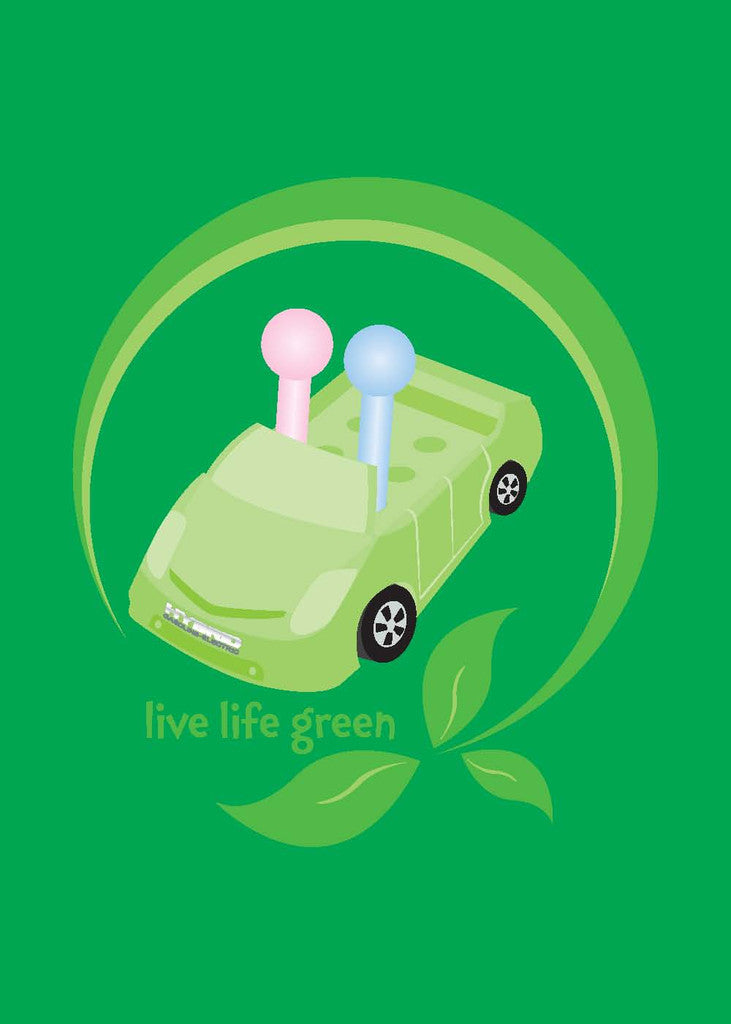 Live Life Green Greeting Card