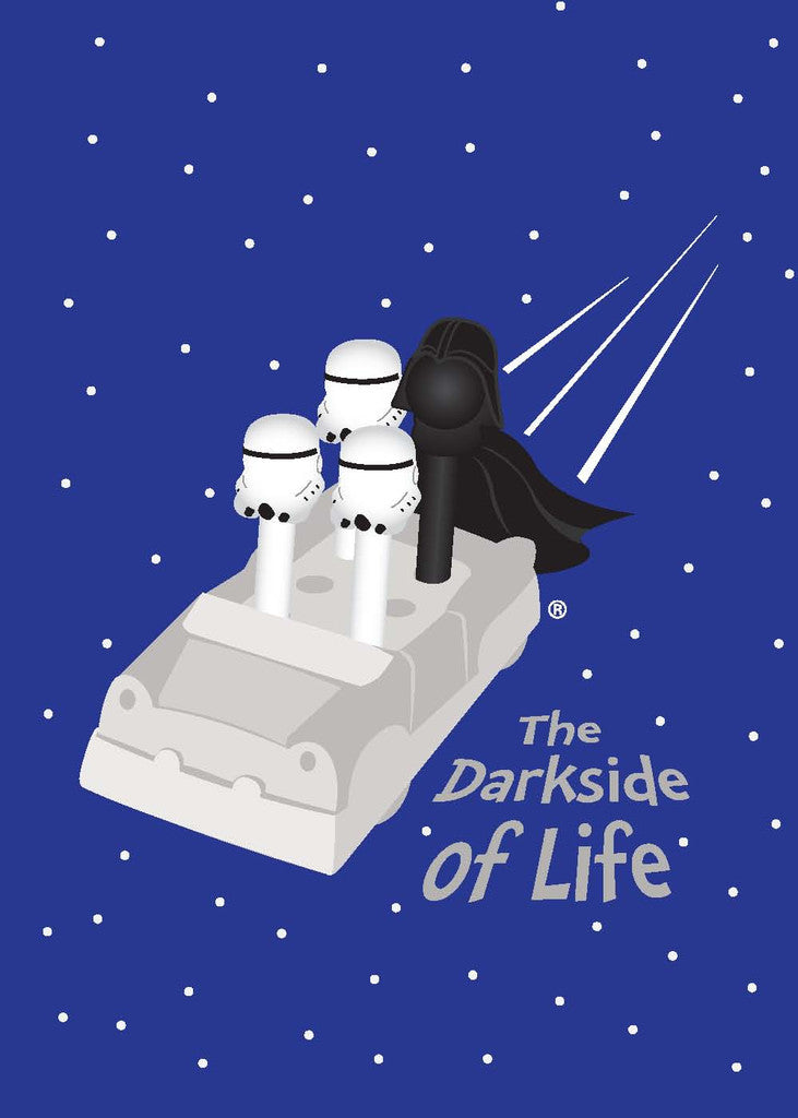 Darth Vader Greeting Card - The Darkside of Life