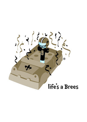 Life's a Brees Greeting Card