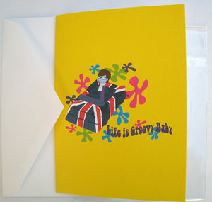 Austin Powers Greeting Card - Life is Groovy