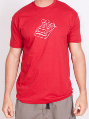 Men's PegLife Car Outline T-shirt - Red