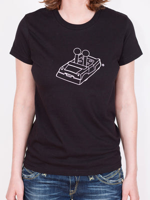 Women's Game of Life Car Outline T-shirt - Black