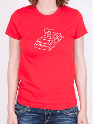 Women's Game of Life Car Outline T-shirt in Red